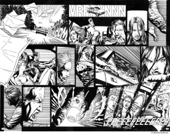 El Ojo Blindado N° 4, pages 2 & 3, double spread, unpublished