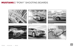 Ford Mustang, Pony, BW shooting boards 01/06 - Stardust Productions