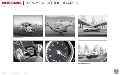 Ford Mustang, Pony, BW shooting boards 13/18 - Stardust Productions