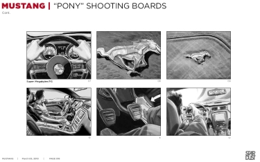 Ford Mustang, Pony, BW shooting boards 07/12 - Stardust Productions