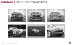 Ford Mustang, Pony, BW shooting boards 19/24 - Stardust Productions