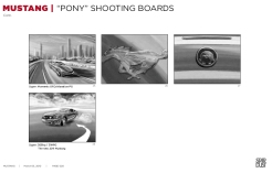 Ford Mustang, Pony, BW shooting boards 25/28- Stardust Productions