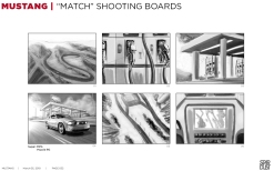 Ford Mustang, Match, BW shooting boards 01/06 - Stardust Productions