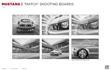 Ford Mustang, Match, BW shooting boards 19/24 - Stardust Productions