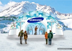 Samsung, Olympics stands concept 1 - Ignition Inc