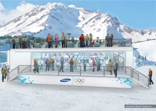 Samsung, Olympics stands concept 8 - Ignition Inc
