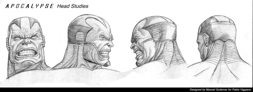 Apocalypse, Statue design, head turnaround