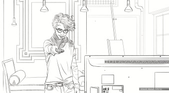 At&t, Artiste, BW storyboard frame 1 - Sanders/Wingo