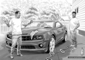 At&t, Car Washing, BW comp concept - Sanders/Wingo