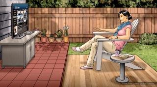 At&t, U-Verse, Pam, color storyboard frame - Sanders/Wingo