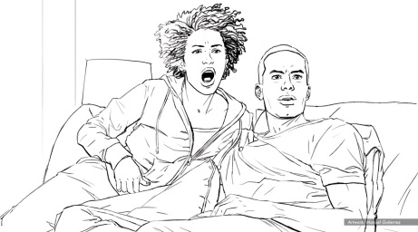 At&t, Show Lationship, BW storyboard frame 5 - Sanders/Wingo