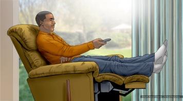 At&t, U-Verse, Tom, color storyboard frame - Sanders/Wingo