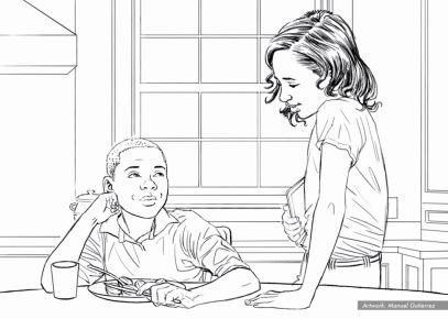 At&t, Veggies, BW storyboard frame 3 -Sanders/Wingo
