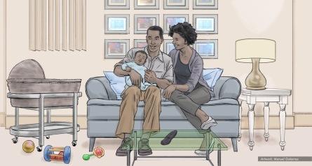 AT&T, baby talk, color storyboard frame 1 - Sanders/Wingo