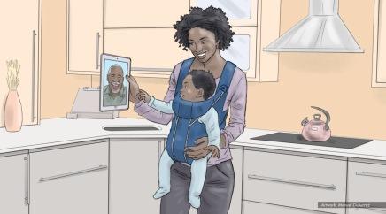 AT&T, baby talk, color storyboard frame 2 - Sanders/Wingo