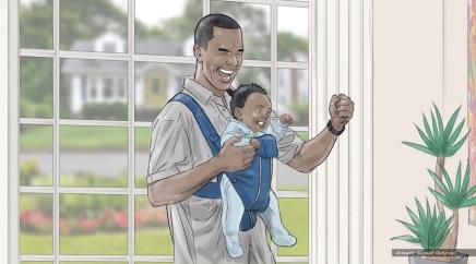 AT&T, baby talk, color storyboard frame 5 - Sanders/Wingo