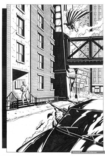 Batman, sample series 2, page 7 (inks)