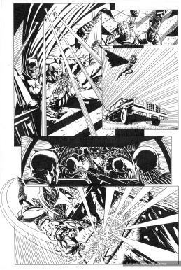 Batman, sample series 2, page 8 (inks)