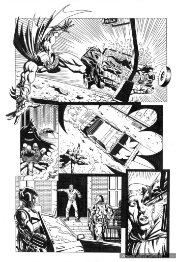 Batman, sample series 2, page 9 (inks)