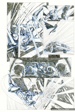 Batman, sample series 2, Page 8 (pencils)