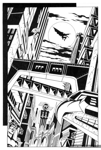 Batman, sample series 3, page 2 (inks)