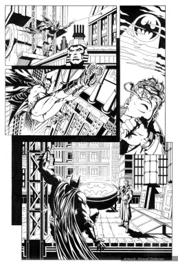 Batman, sample series 3, page 3 (inks)