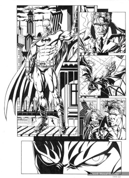 Batman, sample series 3, page 4 (inks)