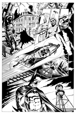 Batman, sample series 4, page 1 (inks)