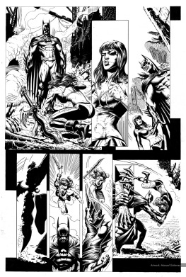 Batman, sample series 4, page 4 (inks)