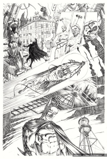 Batman, sample series 4, page 1 (pencils)