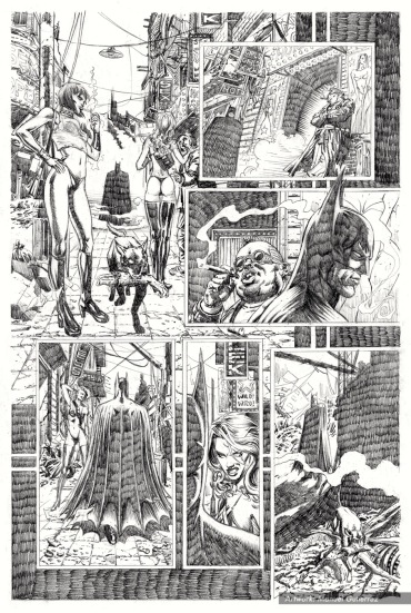 Batman, sample series 4, page 2 (pencils)