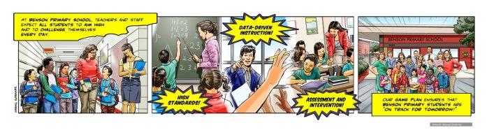 Learning Hero, Benson Primary School, comic strip