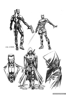 Blade: character studies, Costume Concept 2