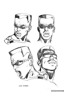 Blade: character studies, heads 3