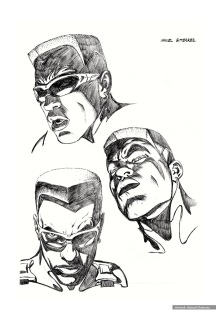 Blade: character studies, heads