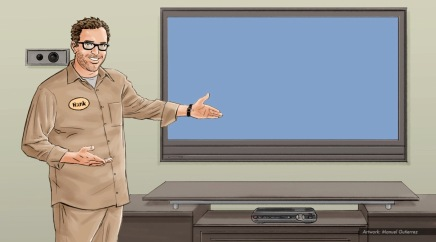AT&T, cable guy, color storyboard frame 1 - Sanders/Wingo