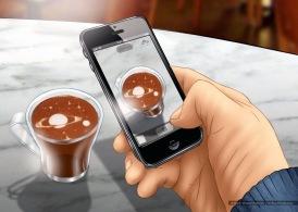 Chaqwa: Coffee foam art contest, color storyboard frame - Ogilvy & Mather Atlanta
