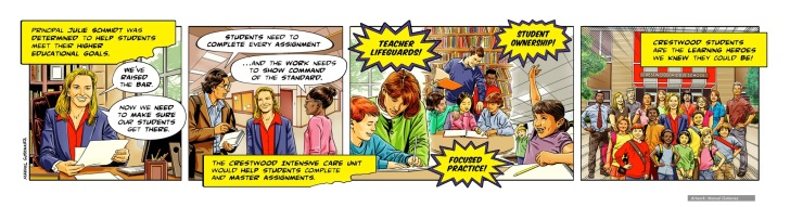 Learning Hero, Crestwood Middle School, comic strip