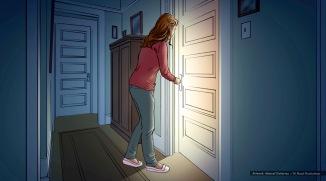 Devour, Daughter, color storyboard frame 2 -David