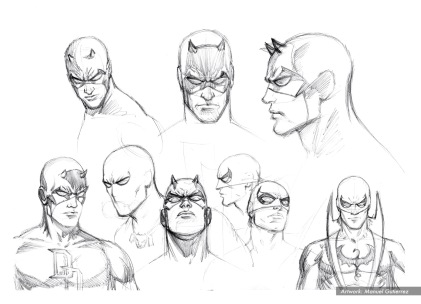 "Daredevil ""The Trial Of The Century"" character studies. DD, White Tiger & Iron Fist"