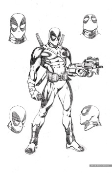 Deadpool, character studies, costume 2