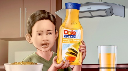 Dole, llama lips, animatic color frame 8 - Dailey