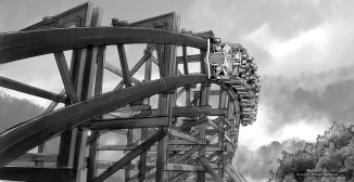 Dollywood, Blockbuster, BW storyboard frame 8 - Anthem