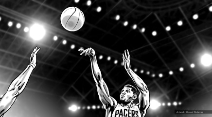 Gatorade: Flow, Paul George. BW storyboard frame 7 - VML