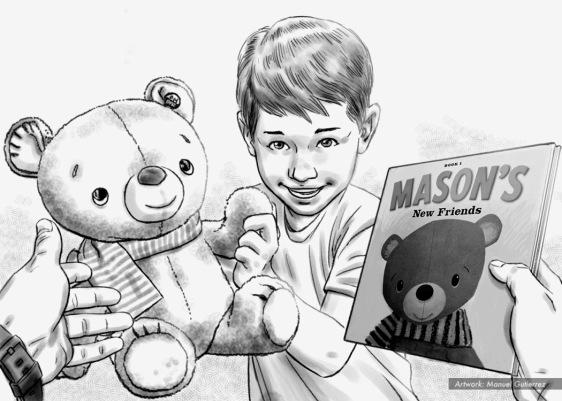 Hallmark, mason interactive buddy, BW storyboard frame 6