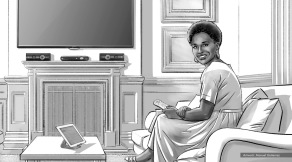 Jenifer Lewis, Worldly Woman, BW storyboard frame 1 - Sanders/Wingo
