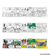 Learning Hero, Solano School comic strip, work process