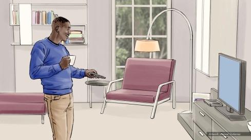 At&t, Legend, color storyboard frame 1 - Sanders/Wingo
