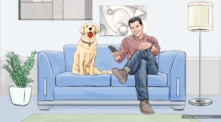 AT&T, Man's Best Friend, color animatic frame 1 - Sanders/Wingo