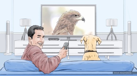 AT&T, Man's Best Friend, color animatic frame 2 - Sanders/Wingo